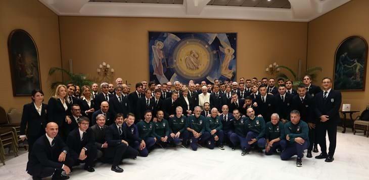 La Nazionale Italiana ricevuta in udienza privata da Papa Francesco